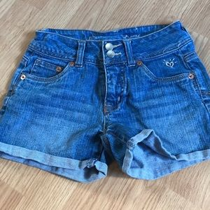 Justice Girls Jeans Shorts Size 12S